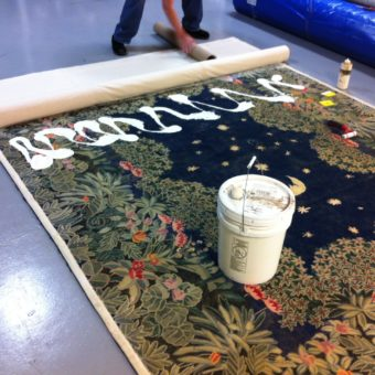 New Backing on Rug CT